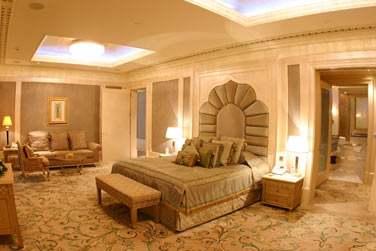 Intérieur de la chambre de la Suite Royale (sur demande uniquement)