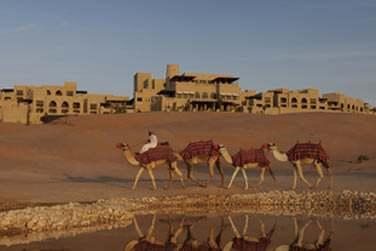 Le Wadi se trouve un peu plus bas, non loin de l'hôtel