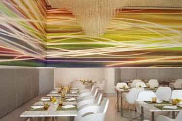 La terrasse du restaurant Origins offre une vue imprenable sur le circuit de formule 1