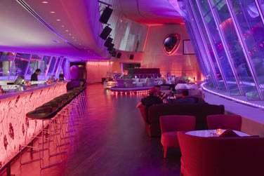 Le bar Rush : tendance sophistiquée pour ce bar surplombant le circuit de Formule 1.