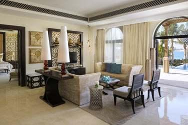 Salle de séjour de la Villa Palm Beach 2 chambres