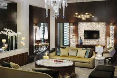 Salle de séjour de la Grand Suite Palm Manor House