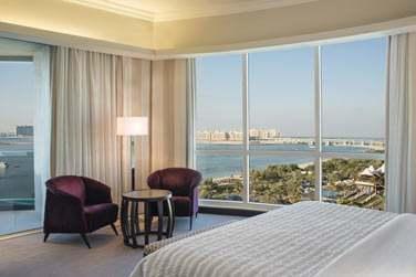 La chambre Supérieure offrant une vue splendide sur Palm Jumeirah et le golfe d'Arabie