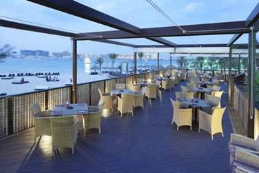 La terrasse du restaurant Barasti