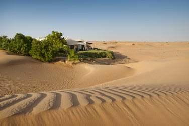 La Suite Présidentielle, totalement perdue au coeur des dunes de sable...
