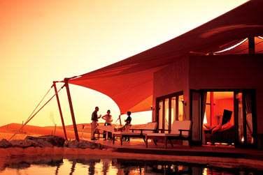 La terrasse extérieure de la Suite Emirates