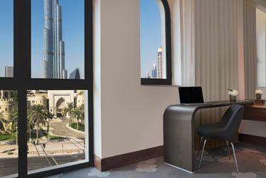 La vue sur la Burj Khalifa est sublime