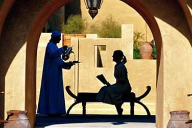 Un véritable décor des 1001 nuits... Cérémonie du thé oriental dans les allées aux murs ocre de l'hôtel