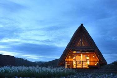 Les bungalows aux toits de chaume sont pleins de charme