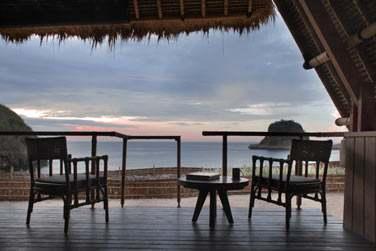 Les terrasses privées offrent une très belle vue sur la mer