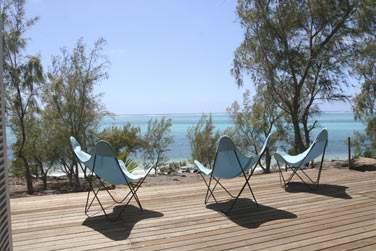 La terrasse de la villa offrant un superbe panorama sur la mer