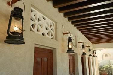 Vous retrouverez l'architecture d'une ancienne maison traditionnelle émirati