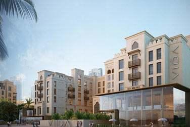 Bienvenue à l'hôtel Vida Downtown, au coeur du quartier Dubaï Downtown...