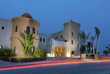L'entrée de l'hôtel Juweira Boutique Hotel