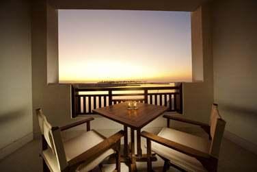 Le balcon privé d'un appartement 1 chambre
