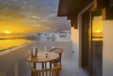 Le balcon privé de la chambre Sifawy