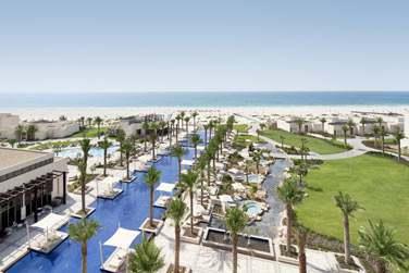 Bienvenue à l'hôtel Park Hyatt Abu Dhabi, en bordure de la longue plage de Saadiyat