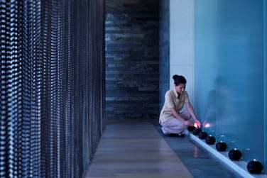 Intérieur du Spa Atarmina... L'association parfaite du design et du bien-être