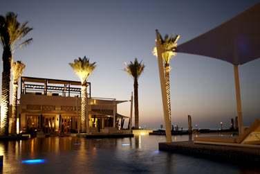Coucher de soleil sur le restaurant The Beach House... Un fabuleux décor !
