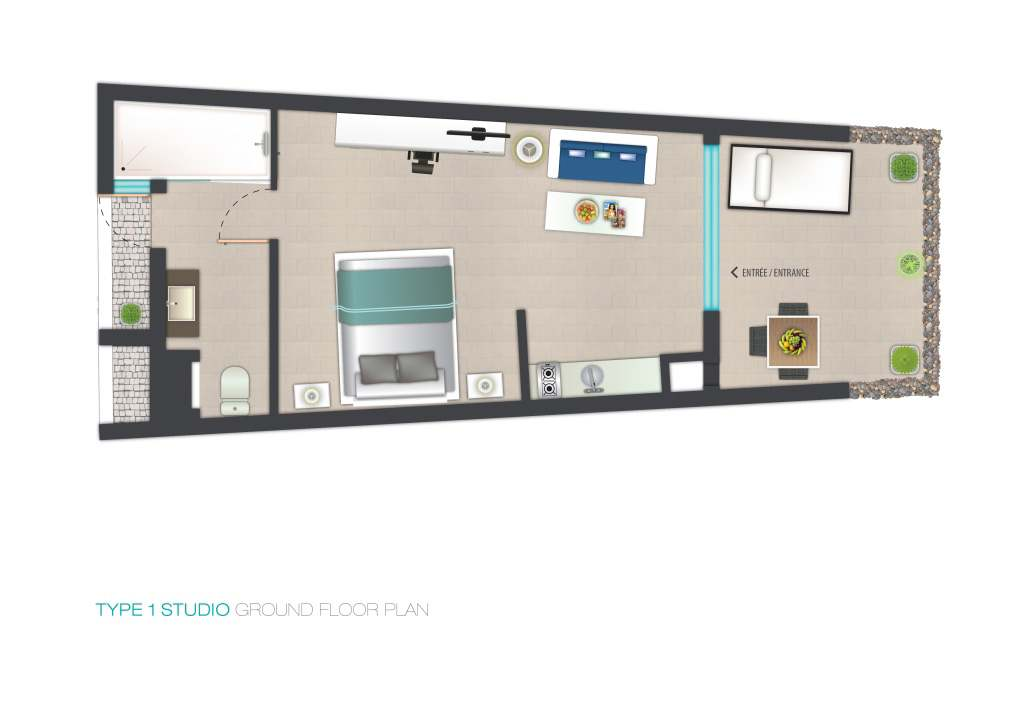 Plan appartement hotel for Plan appartement 1 chambre