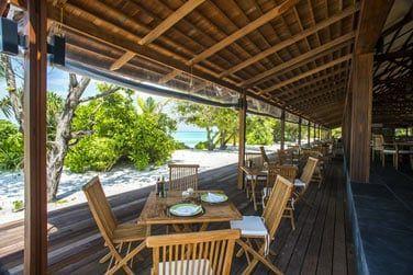 Voici le Barefoot restaurant