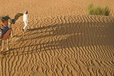 A l'hôtel Bab Al Shams, dans le désert, à environ 40 minutes de route de l'aéroport de Dubaï