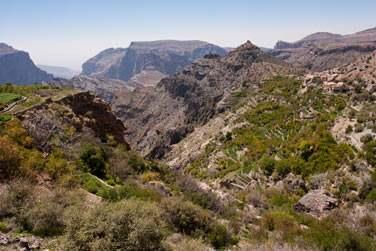 Les montagnes de Jabal Akhdar