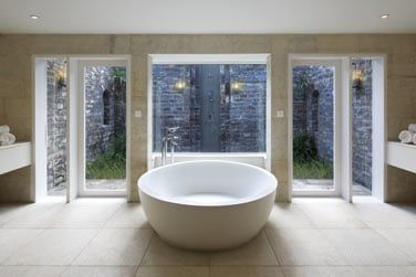 La salle de bain de la Villa Front de mer