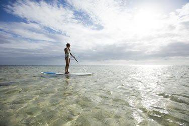 Paddle sur le lagon cristallin...