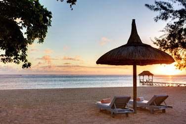 Coucher de soleil sur l'océan Indien... Dans le sud-ouest de l'île Maurice