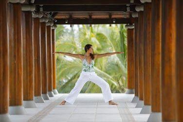 Relaxation lors d'une séance de yoga...