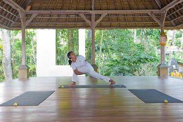 ... ou moment de relaxation lors d'un cours de yoga!
