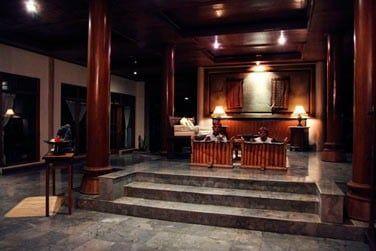 La réception de l'hôtel