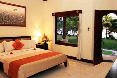 Les chambres Deluxe vue mer offrent une très belle vue sur la mer et sur la plage de Candidasa