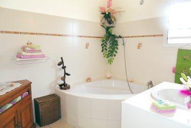 Salle de bain de la partie gîte
