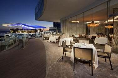 La terrasse extérieure du restaurant BICE