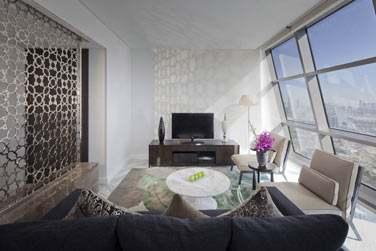 Le coin salon de la Suite Etihad