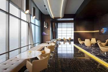 La terrasse d'observation est dotée d'un espace salon très agréable pour profiter de la vue