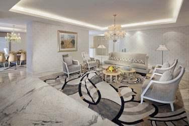 Le coin salon de la Suite Royale Etihad