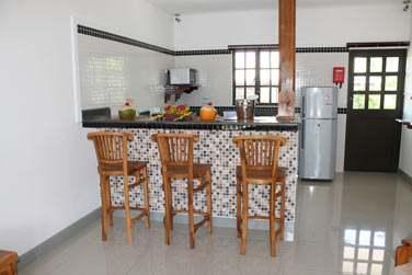 Intérieur du coin cuisine des appartements