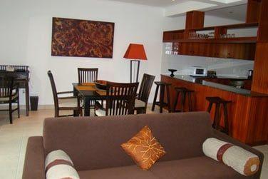Les appartements Duplex possèdent une grande pièce à vivre ainsi qu'une grande cuisine toute équipée