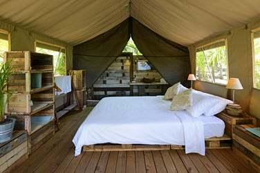 Les tentes d'Otentic Ecolodge sont confortables et bien aménagées