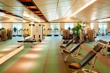 L'hôtel possède également une très belle salle de sport, parfaitement équipée