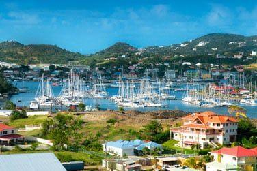 dans le coeur animé du nord de Sainte-Lucie