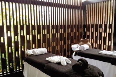 Une large palette de soins et massages dont certains sont à base de chocolat !