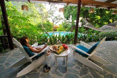 La villa Bougainvillea avec 2 chambres
