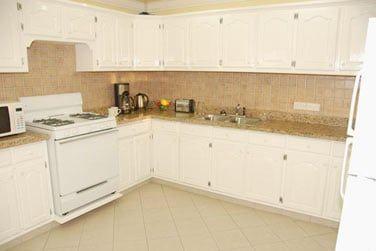 La cuisine équipée de l'un des appartements
