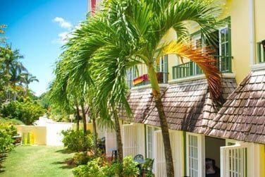 Les chambres sont réparties dans de petits bâtiments à l'âme créole