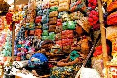 Un marché coloré de Bali
