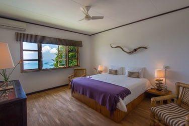 Décoration des Chambres Coetivy et Silhouette avec vue mer
